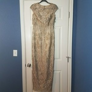 Ariana Papell Pop Over Gown Size 2 NWOT